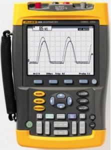 teardown and repair of a fluke 196b handheld scopemeter the signal rh thesignalpath com Fluke Automotive ScopeMeter Fluke Scope